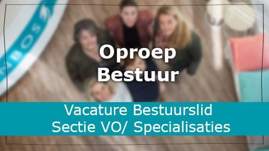 Vacature Bestuurslid sectie Voortgezet Onderwijs & Specialisaties